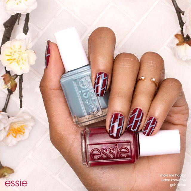 bamboo beauty, nail art by essie looks