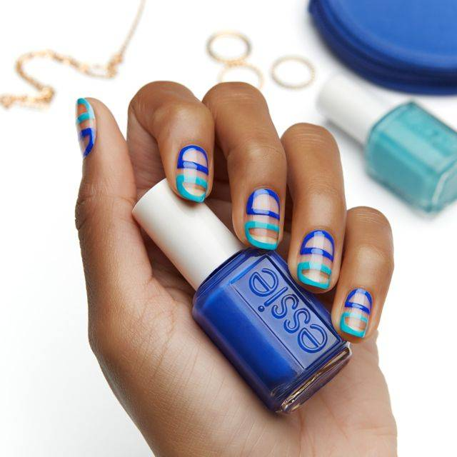between the lines- nail art - essie looks