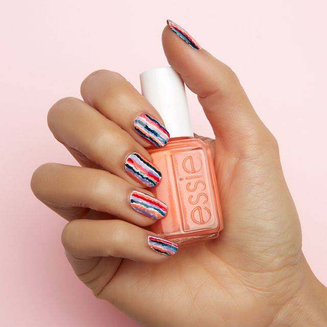 blurred lines- nail art - essie looks