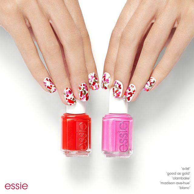 Nail art nail designs ideas looks inspiration essie nail art chic splatter nail art prinsesfo Gallery
