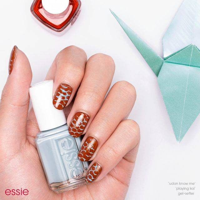 classy and koi, nail art by essie looks