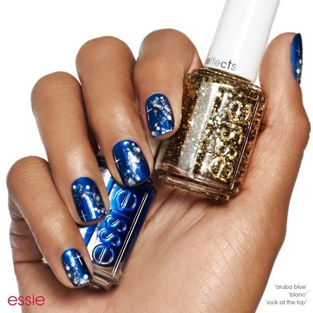 cobalt heaven - nail art - essie looks