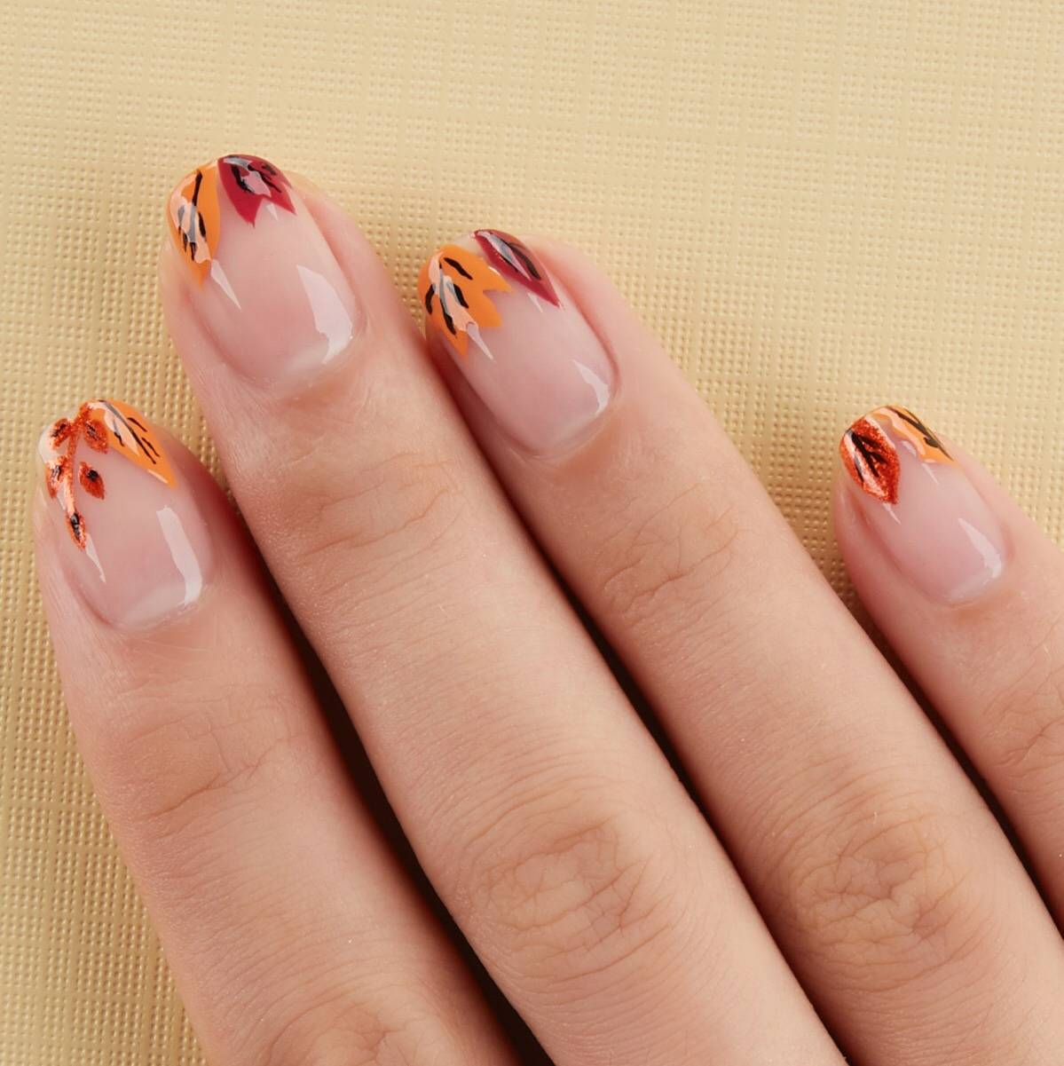 essie fall foliage nail art - fall for nyc, say it ain't soho and licorice