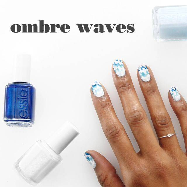 Ombre Waves Nail Art By Essie Looks