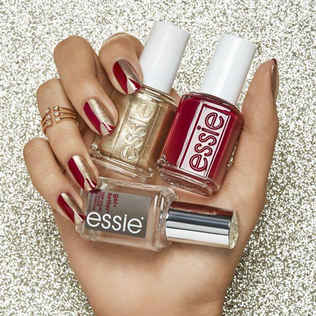 retro peace party nail art by essie look