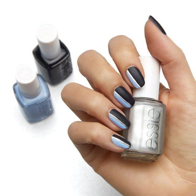 Sleek Stripes Nail Art Essie Looks