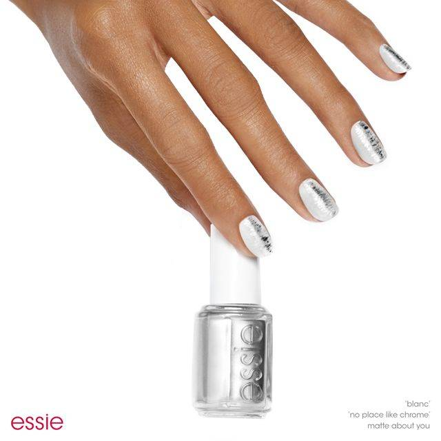 sliver of silver - nail art - essie looks