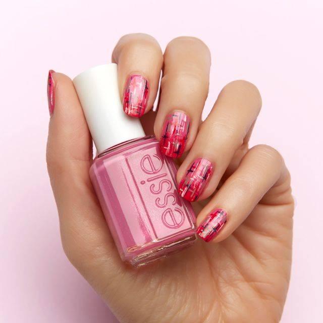 totally tweed- nail art - essie looks