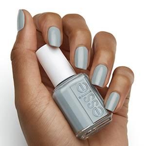 mooning - light blue gray nail polish & nail color - essie