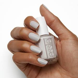 without a stitch - light gray nail polish & nail color - essie