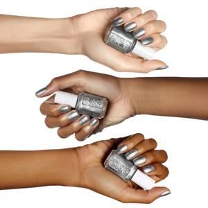 empire shade of mind - metallic silver nail polish & color - essie
