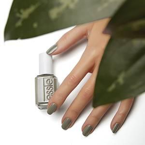 exposed - khaki olive green nail polish & nail color - essie