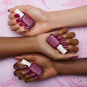 flowerista - purple plum nail polish & nail color - essie