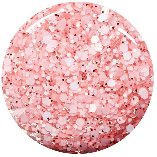galentine - white & carnation pink matte glitter top coat - essie