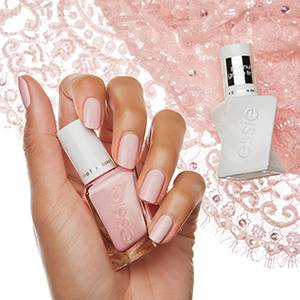 wearing hue - champagne white gel nail polish & nail color - essie