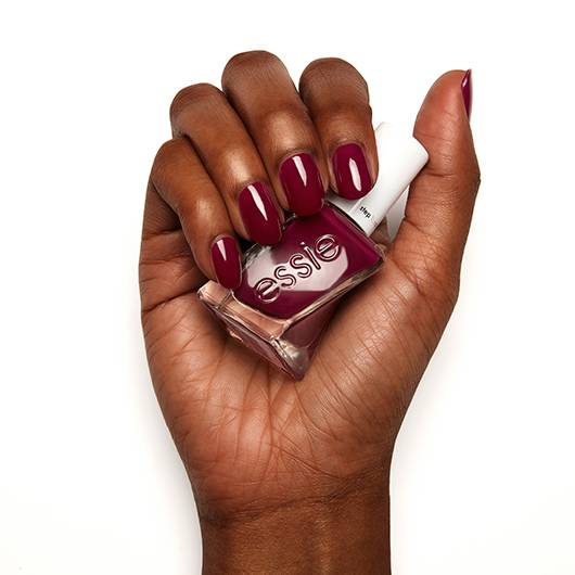 model clicks - wine red gel nail polish, nail color & lacquer - essie
