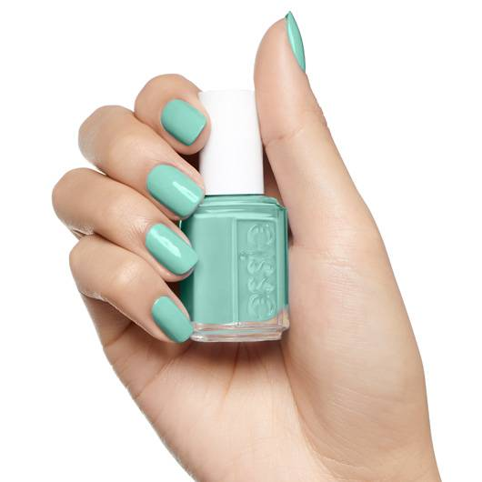 empower-mint - turquoise green nail polish & nail color - essie
