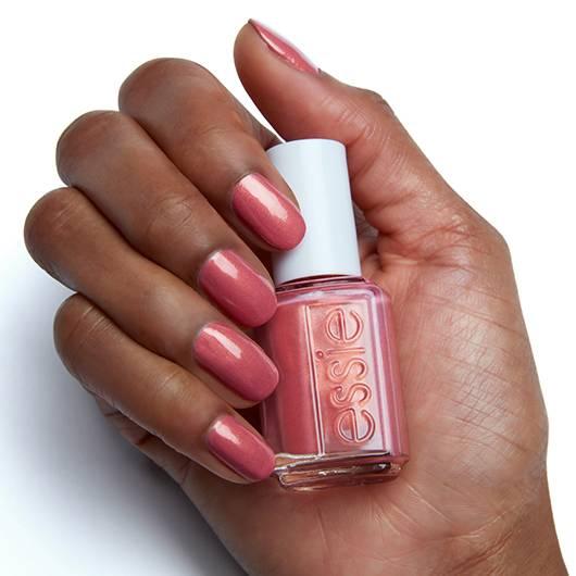 let it glow - copper coral nail polish & nail color - essie