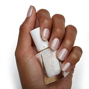 picture perfect - shimmer white gel nail polish & nail color - essie